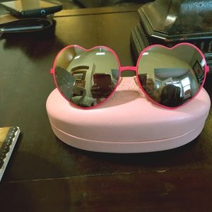 Juicy Heart Shaped Pink Sunglasses Lolitas